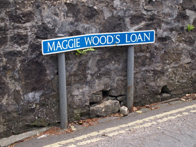 Maggie Wood's Loan road sign