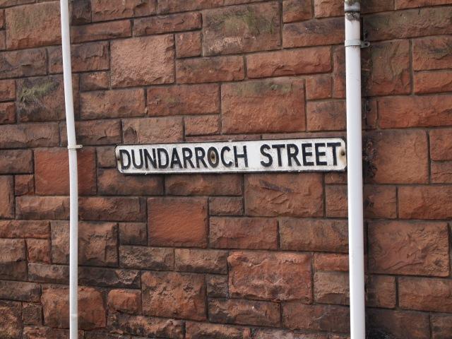 Dundarroch Street sign