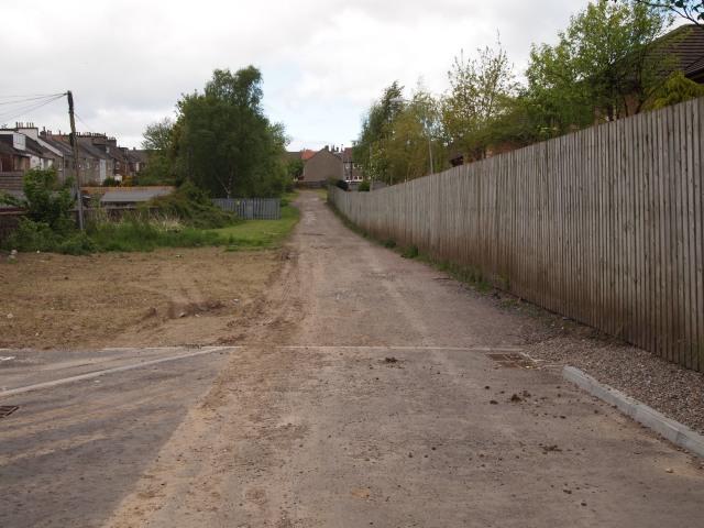 Gravel lane that runs on the old route of Summerlee Street, Coatbridge