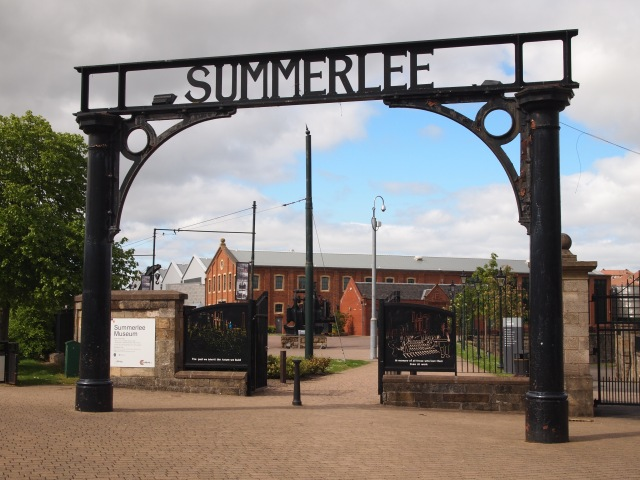 Large iron arch with 'Summerlee' lettering
